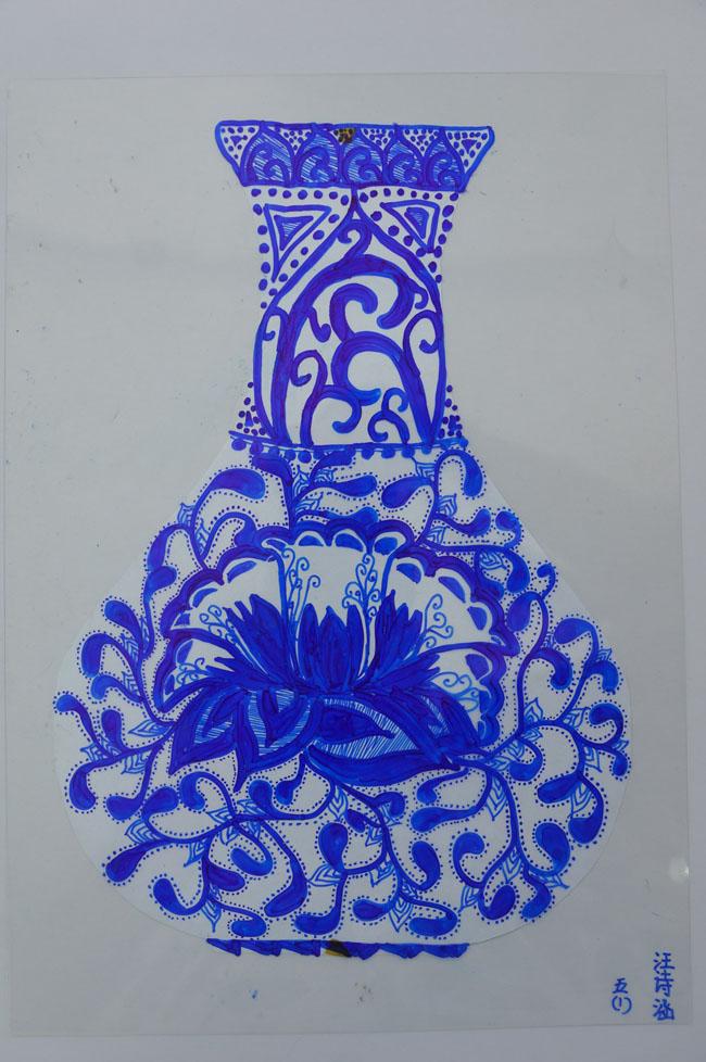 青花瓷——线描装饰画创意课堂